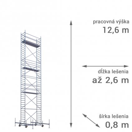 pojazdne lesenie rux mobilo 800 vyska 12 6