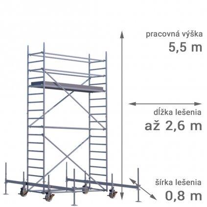 pojazdne lesenie rux mobilo 800 vyska 5 5