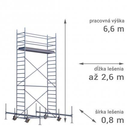 pojazdne lesenie rux mobilo 800 vyska 6 6