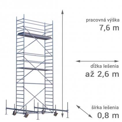 pojazdne lesenie rux mobilo 800 vyska 7 6