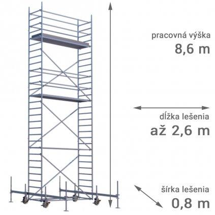 pojazdne lesenie rux mobilo 800 vyska 8 6