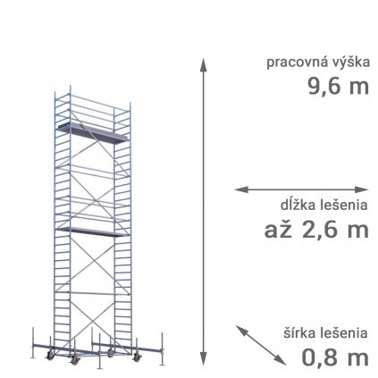pojazdne lesenie rux mobilo 800 vyska 9 6