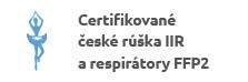 Certifikované českérúška IIR arespirátory FFP2