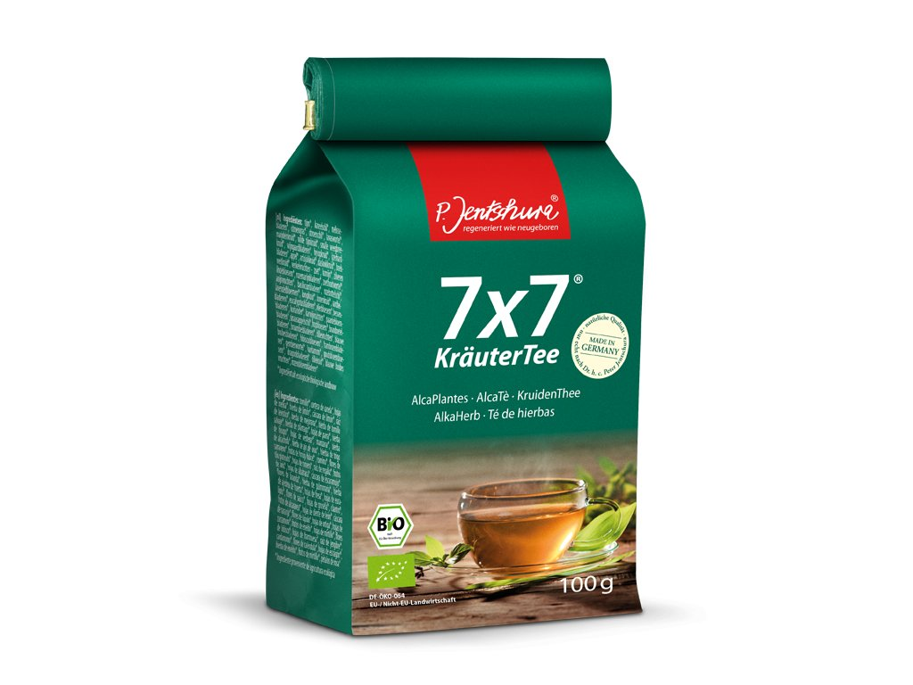 P. Jentschura 7x7 KräuterTee bylinný čaj BIO, sypaný 100 g / 36 litrov