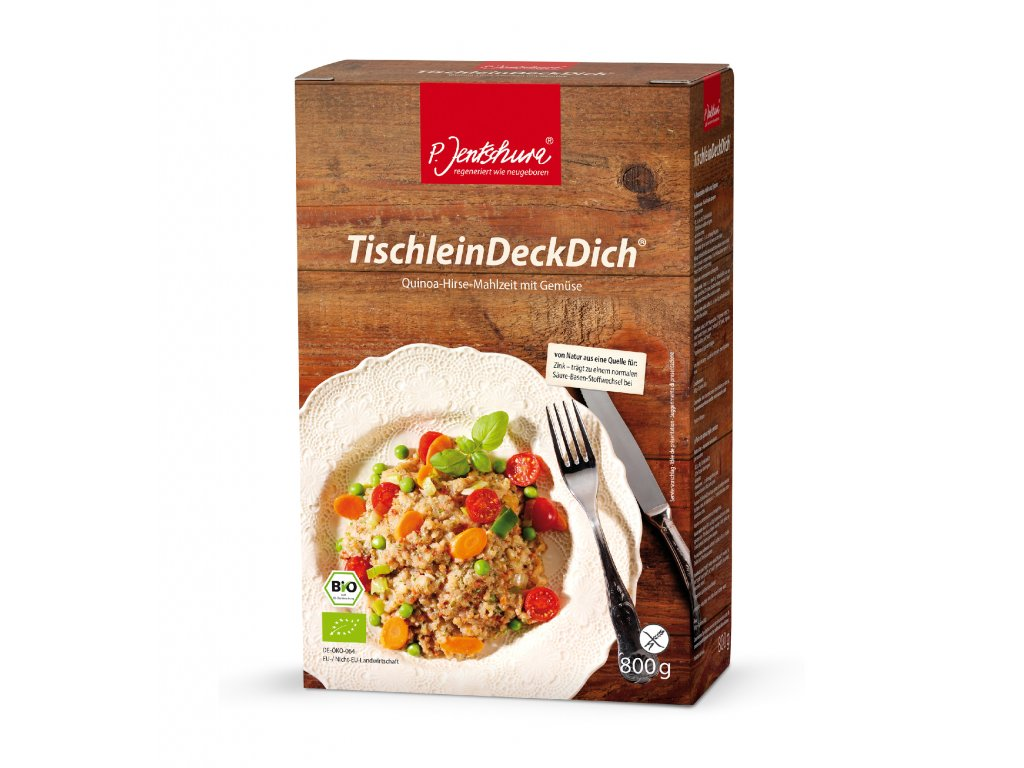 P. Jentschura TischleinDeckDich rýchla, bezlepková, BIO večera 800 g / 16 porcií