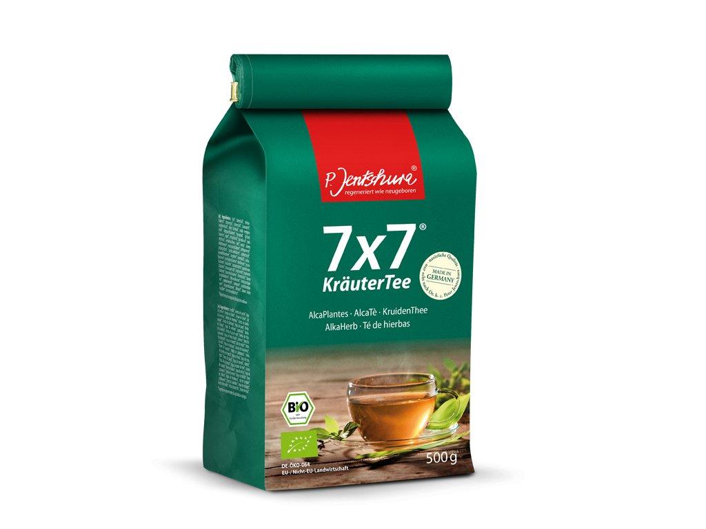 P. Jentschura 7x7 KräuterTee bylinný čaj BIO, sypaný 500 g / 180 litrov