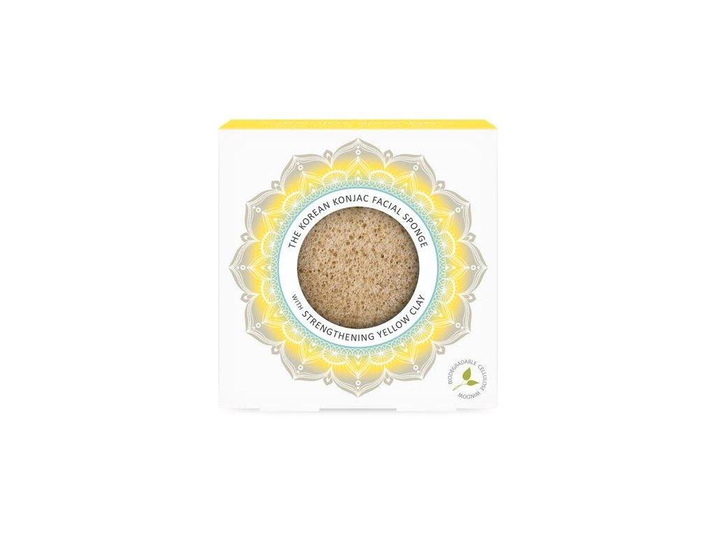 SR31 Mandala Premium YellowClay Konjac Sponge 1 400x