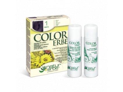 3649 O color erbe 01 cerna barva na vlasy biobeauty