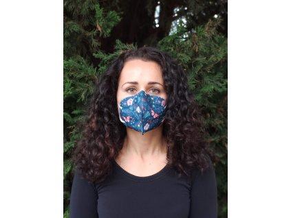 Balerina farebný respirátor FFP2 prírodný vzor 5 kusov