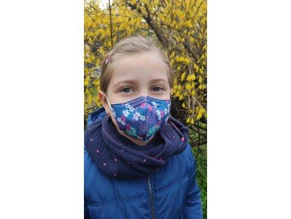 Balerina detský farebný respirátor FFP2 veľ. S - jar 4 kusy