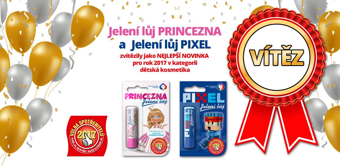 Vítěz volby spotřebitele 2017 - Jelení lůj Princezna a Pixel