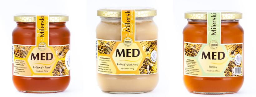 Lesní a květový med z včelařství Milerski