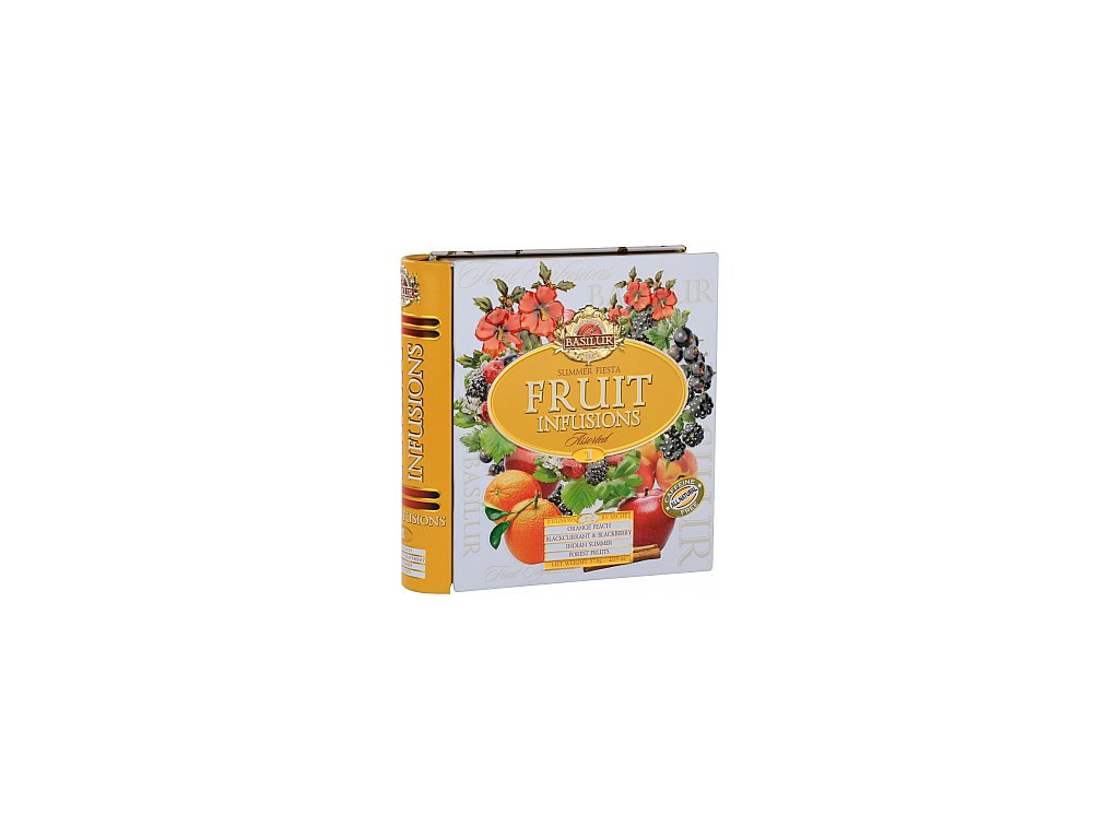 BASILUR Fruit Infusions Book Summer Fiesta plech 32x1,8g
