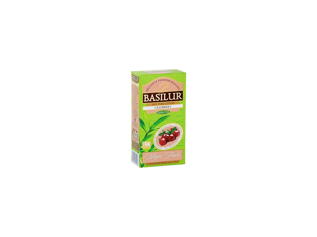 BASILUR/ Magic Green Cranberry nepřebal 25x1,5g