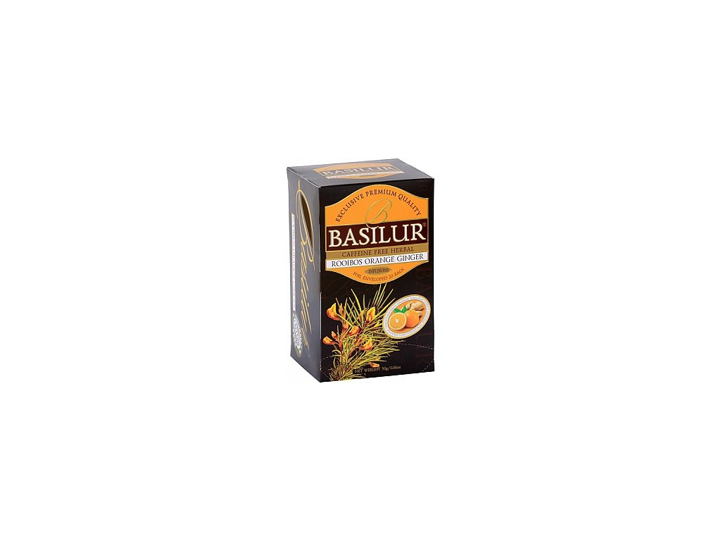 BASILUR Rooibos Orange Ginger přebal 20x1,5g