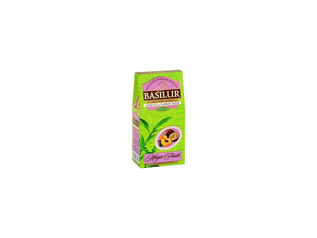 BASILUR Magic Green Apricot & Passion Fruit papír 100g