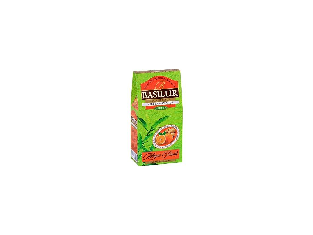 BASILUR Magic Green Ginger & Orange papír 100g
