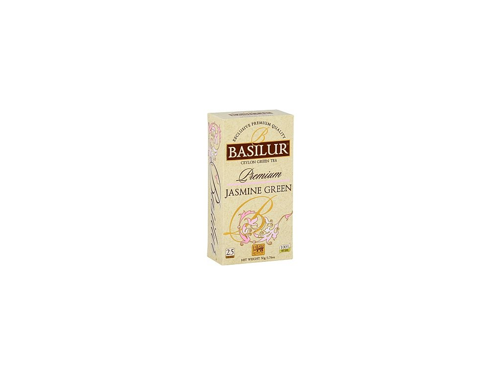 BASILUR Premium Jasmine Green nepřebal 25x2g