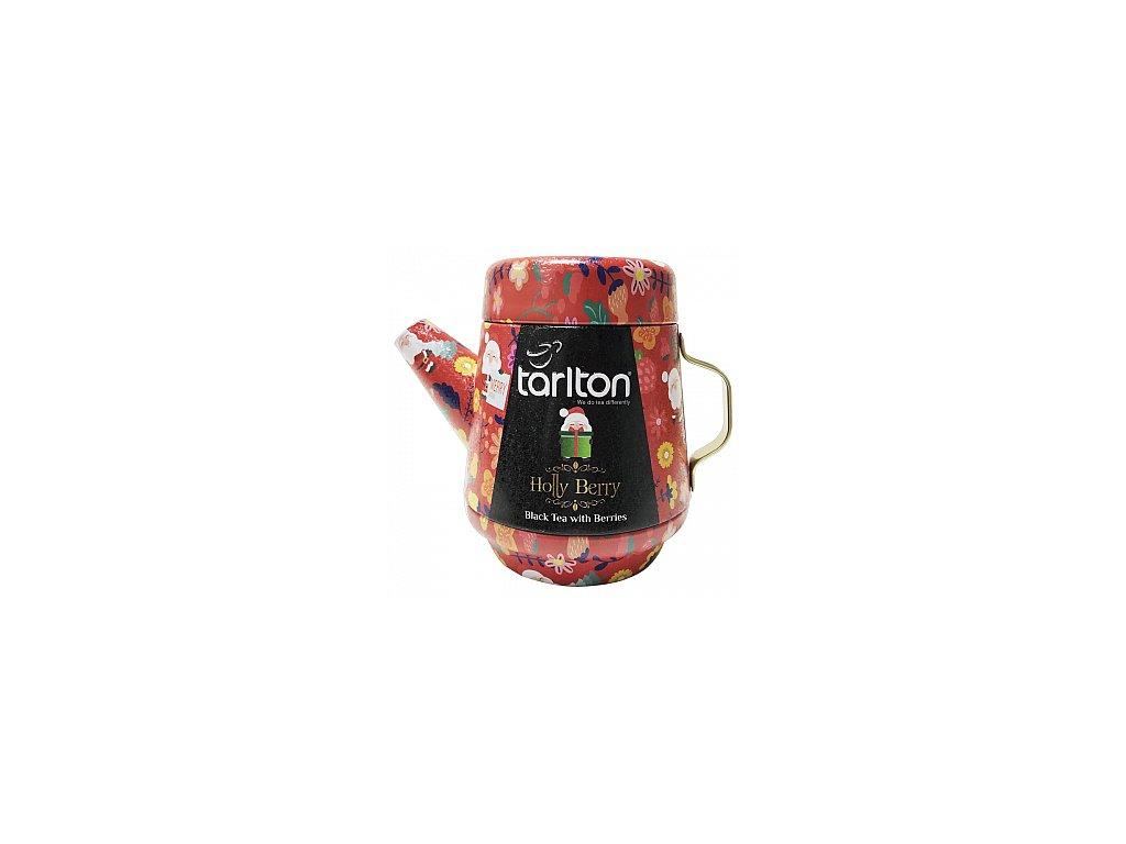 TARLTON Tea Pot Holly Berry Black Tea plech 100g