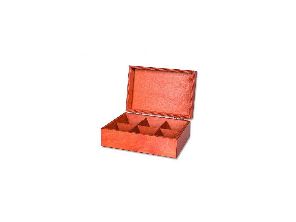 """Dřevěná krabice """"Konvička"""" prázdná 6x10"""