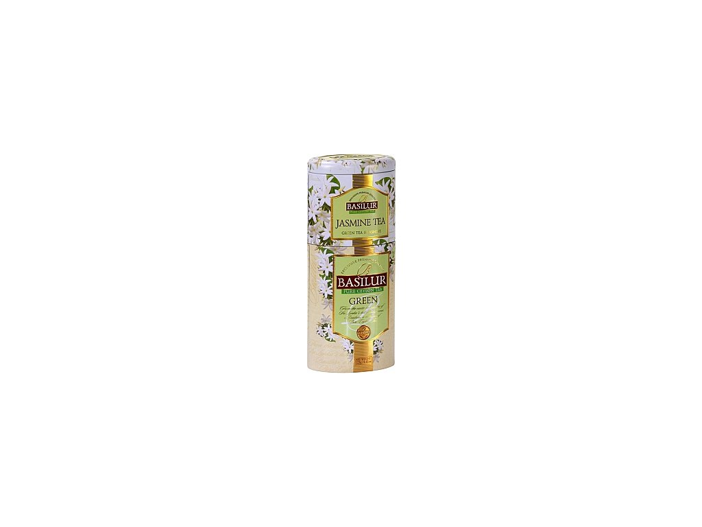 BASILUR 2v1 Jasmine & Green plech 50g & 75g