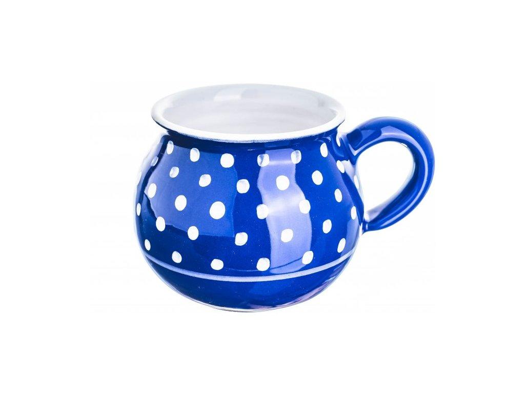 Buclák - puntík bílý na modré