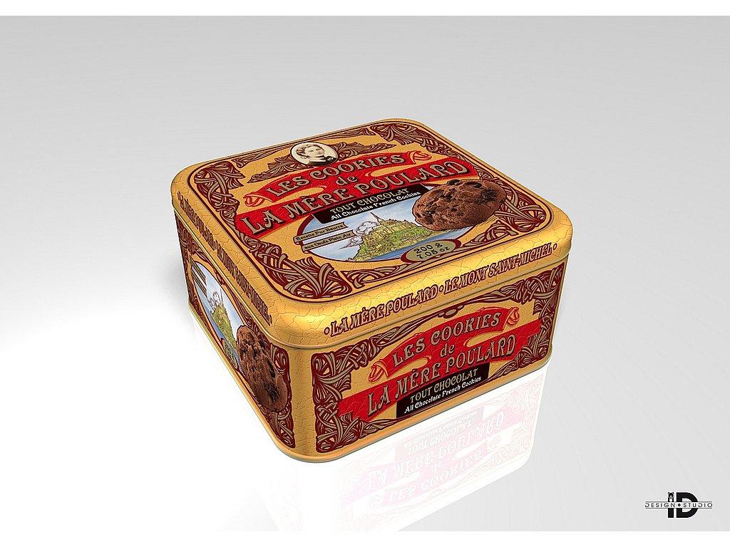 La Mére Poulard Coffret Collector Cookie Chocolat plech 200g