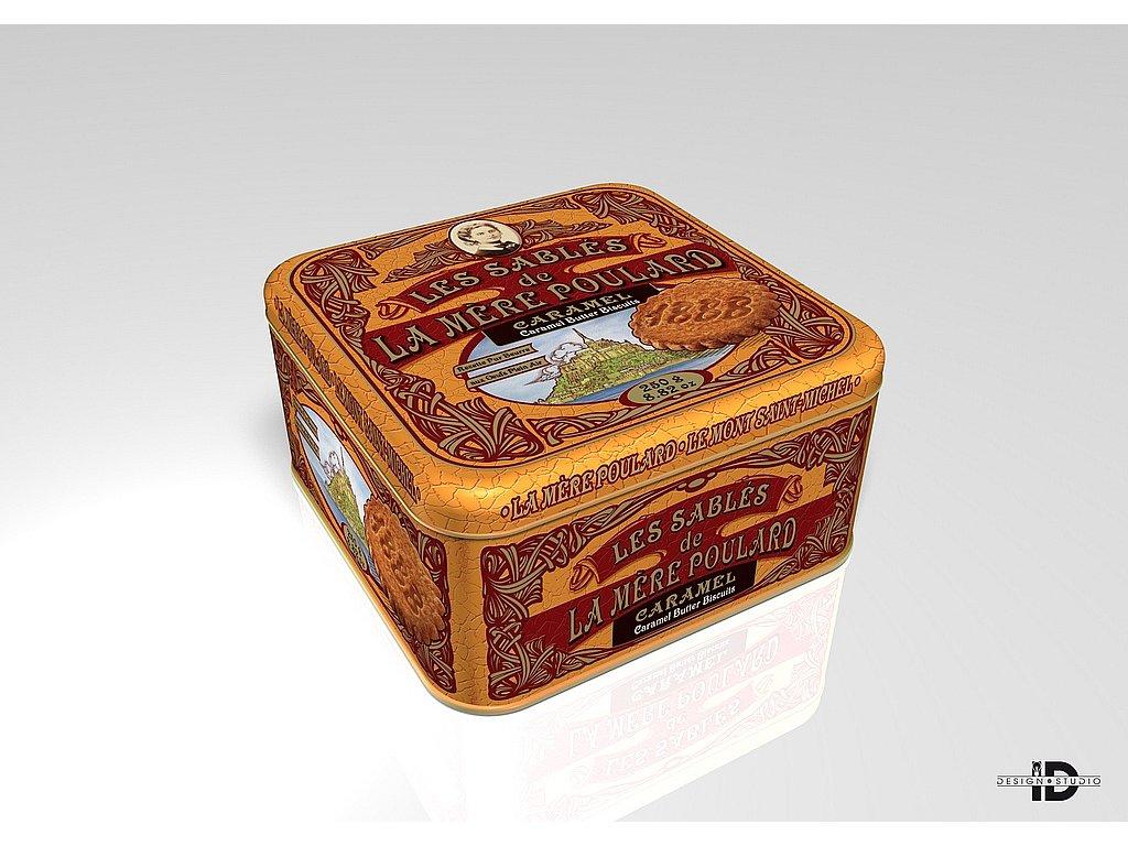 La Mére Poulard Coffret Collector Sablés Caramel plech 250g