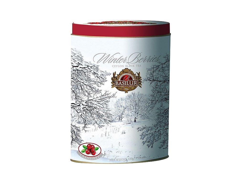 Zimní černý čaj s BRUSINKOU plech 100g