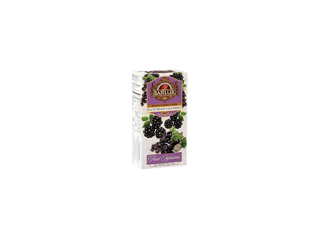 BASILUR Fruit Blackcurrant & Blackberry nepřebal 25x2g