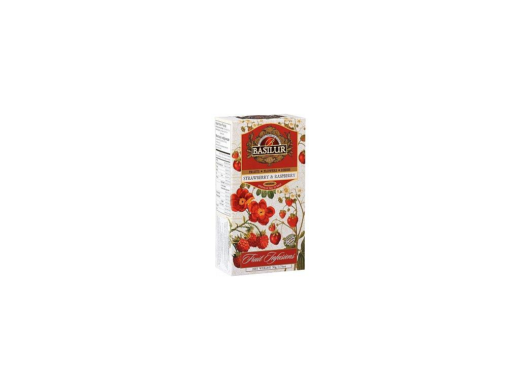 BASILUR Fruit Strawberry & Raspberry nepřebal 25x2g