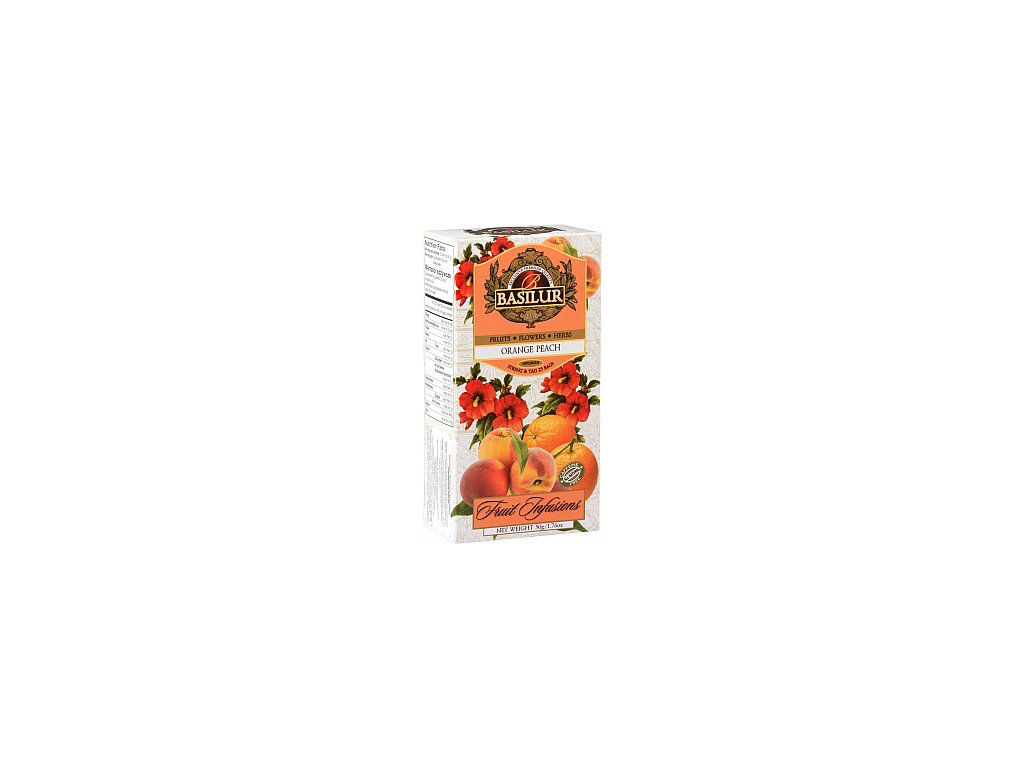 BASILUR Fruit Orange Peach nepřebal 25x2g