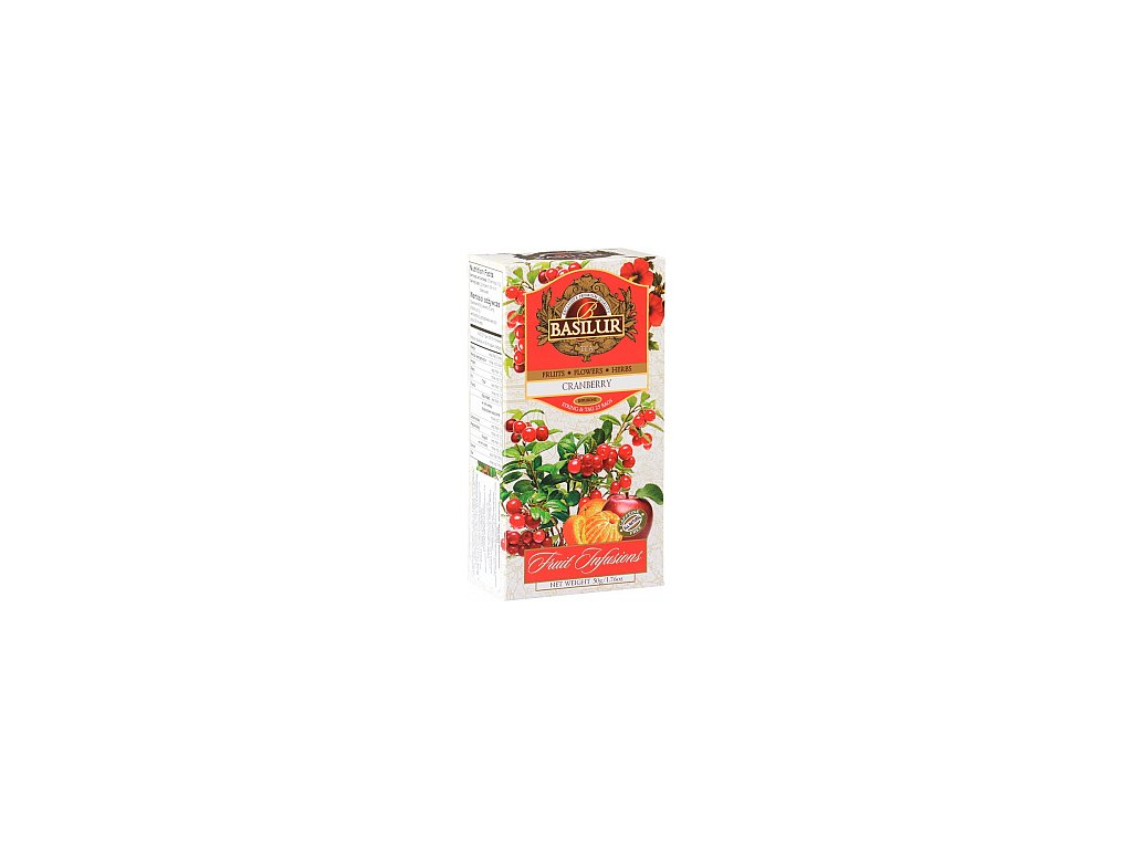 BASILUR Fruit Cranberry nepřebal 25x2g