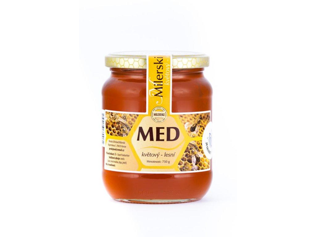 Milerski MED lesní - květový 750ml