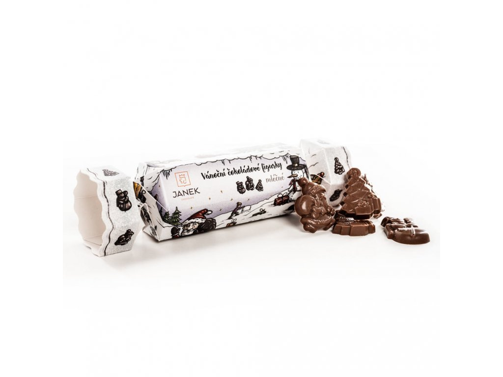 1407 3 cokoladovy vanocni bonbon s mlecnymi figurkami cokolada cokoladovna janek
