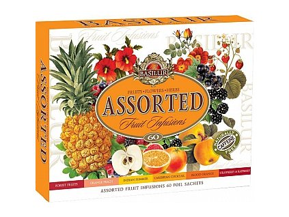 BASILUR Fruit Infusions Assorted přebal 60 sáčků