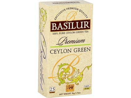 BASILUR Premium Ceylon Green nepřebal 25x2g