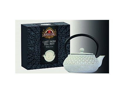 BASILUR Cast Iron Tea Pot White Colour 0,5l