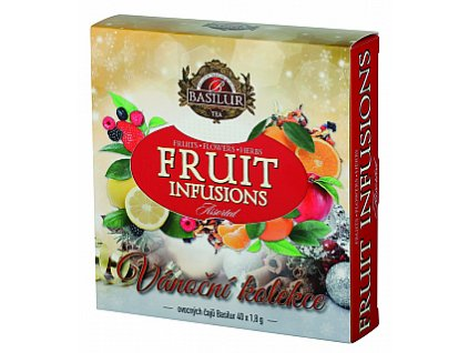 BASILUR Fruit Infusions Assorted Vánoční přebal 40 gastro sáčků