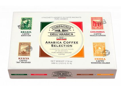 Corsini Arabica Coffee Selection Paper Gift Pack 4x125g