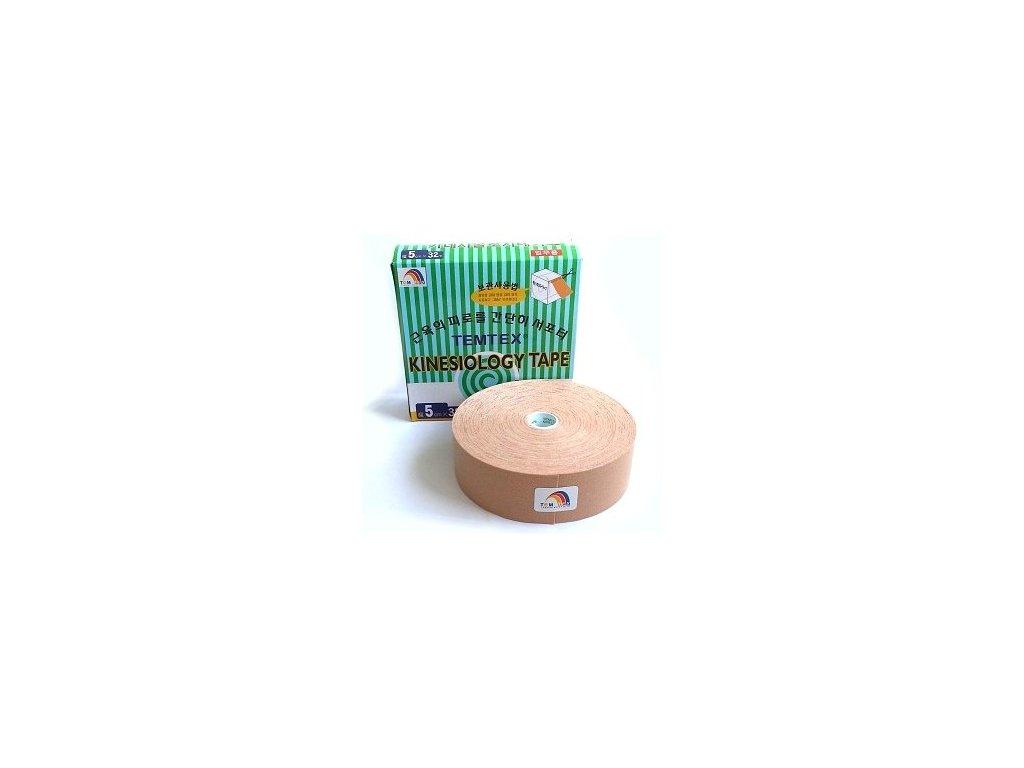 Temtex kinesio tape Classic XL, béžová tejpovacia páska 5cm x 32m - Ekonomické balenie