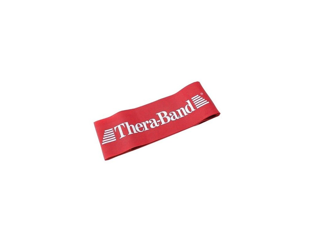 Thera-Band Loop 7,6 x 30,5 cm, červená, stredne silná