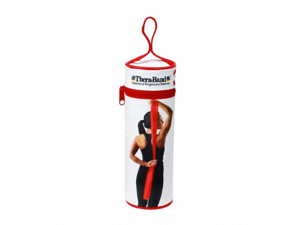 Thera-Band posilovací guma 2,5 m s obalem, červená, středně silná
