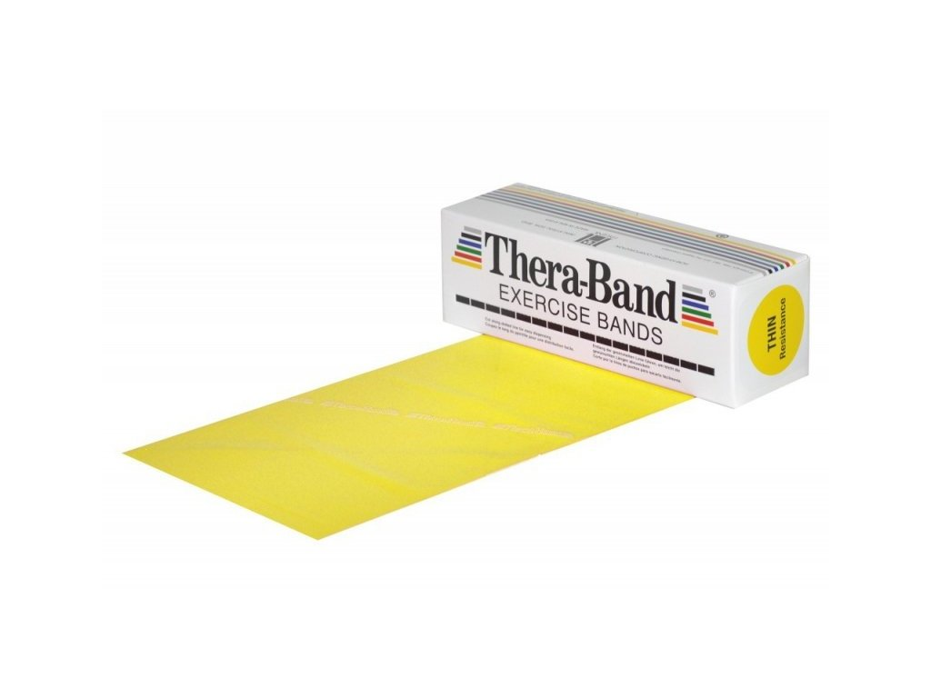 Thera-Band posilňovacia guma 5,5 m, žltá, slabá