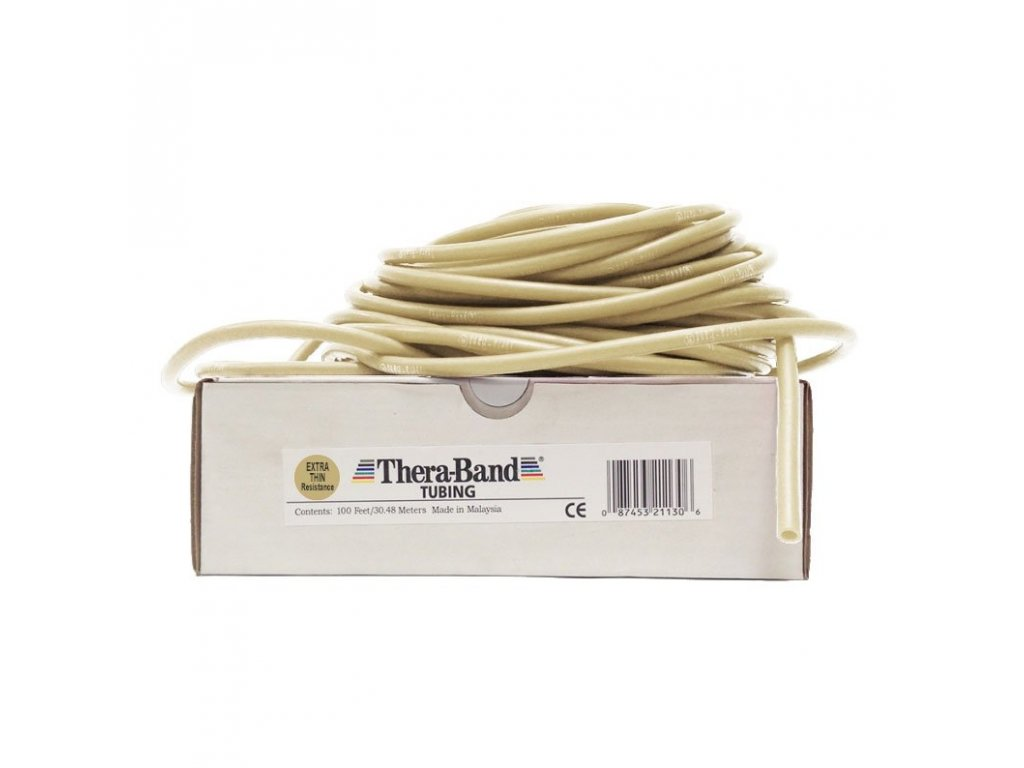 Thera-Band Tubing 30,5 m, béžová, veľmi slabá