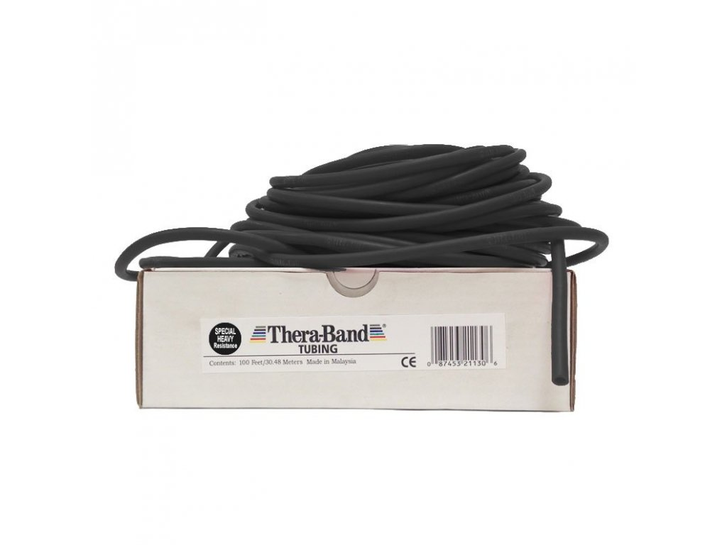 Thera-Band Tubing 30,5 m, čierna, špeciálne silná