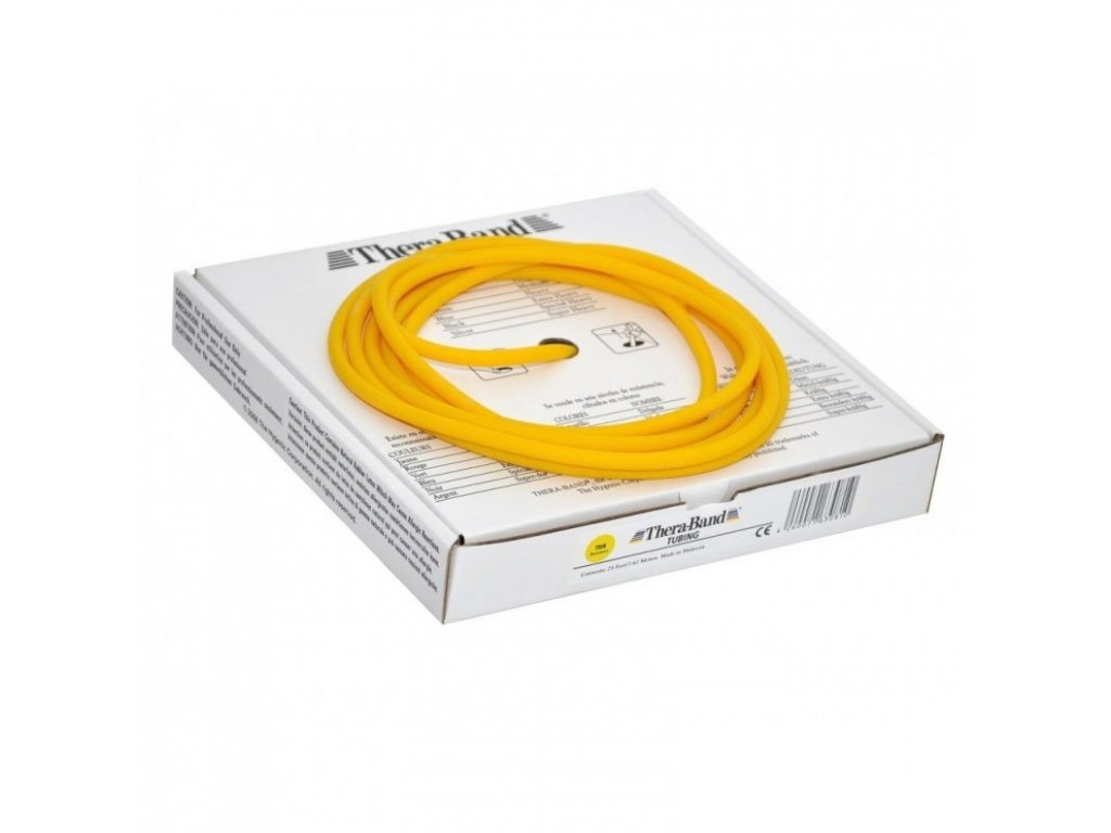 Thera-Band Tubing 7,5 m, žltá, slabá