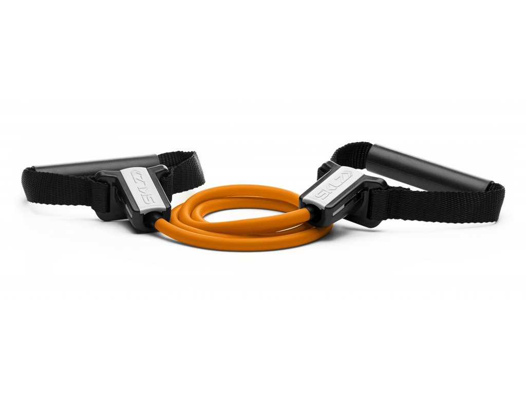 SKLZ Resistance Cable set Light, Odporová oranžová guma s držadly (slabá)