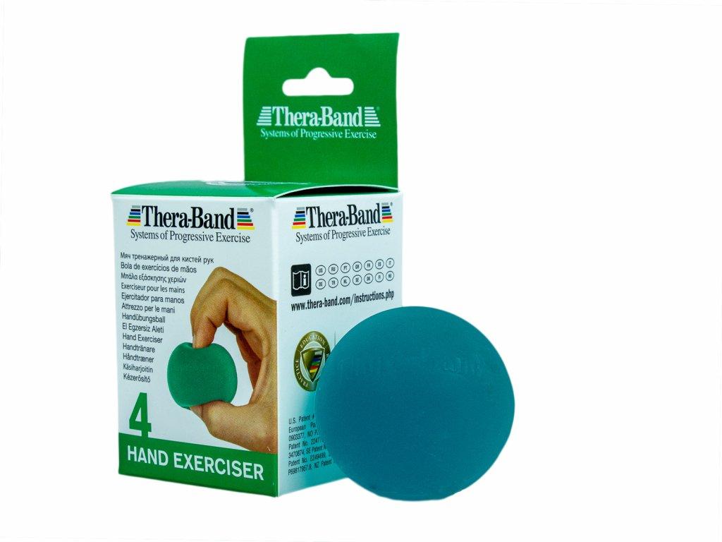 Thera-Band Hand Exerciser - posilňovač ruky - gélová gulička, zelená - stredne mäkká