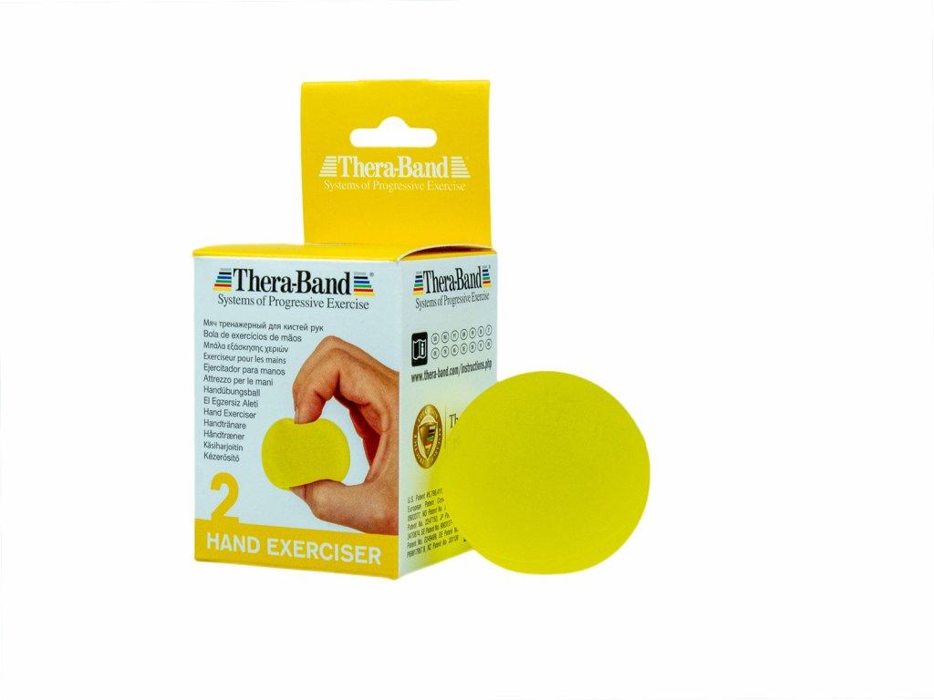 Thera-Band Hand Exerciser - posilňovač ruky - gélová gulička, žltá - slabá